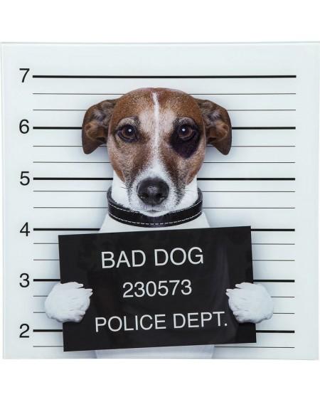 CUADRO CRISTAL BAD DOG 40X40