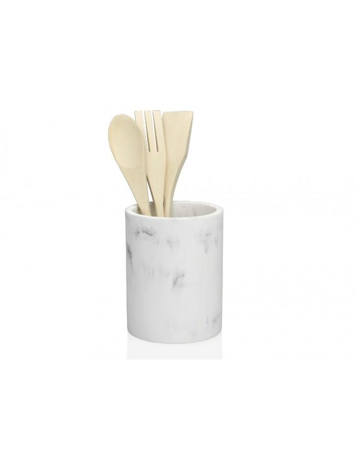 Bote utensilios efecto m rmol trends home for Bote utensilios cocina