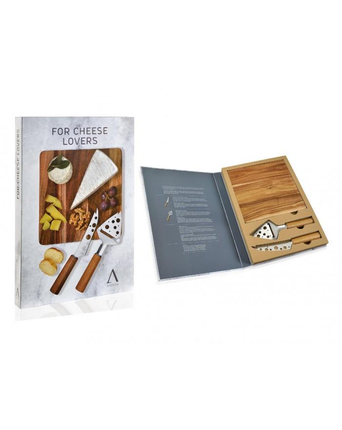 Set 2 cuchillos queso tabla acacia for Set cuchillos villeroy boch tabla