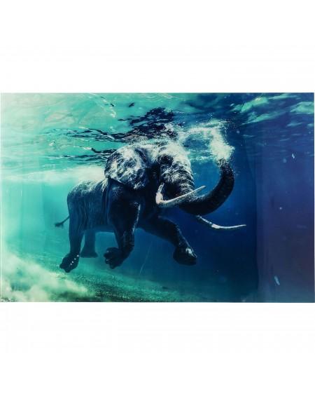 CUADRO 180X120 SWIMMING ELEPHANT