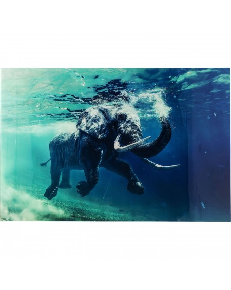 CUADRO SWIMMING ELEPHANT