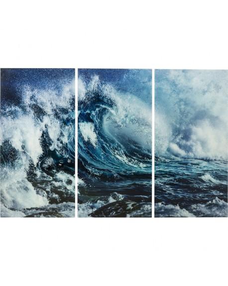 Cuadro Cristal Wave 160x240 cm.