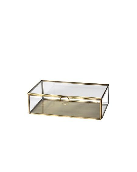 BOX JANNI BRASS/GLASS 15X26