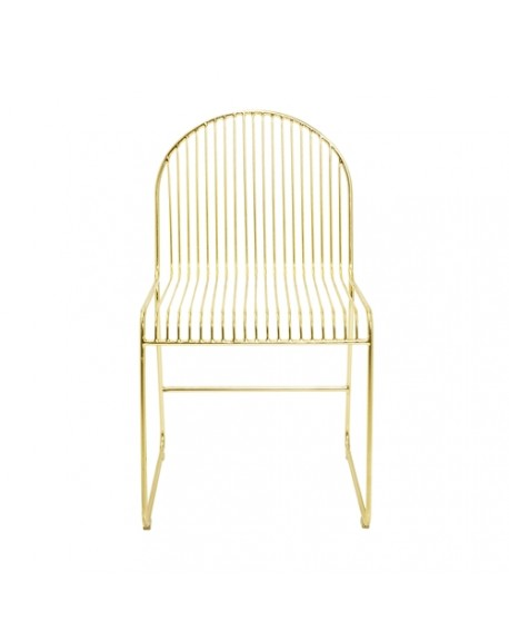 Silla Friend Dining metal/oro