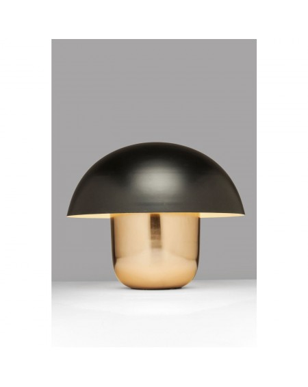 Lámpara de mesa Mushroom Cobre/Negro
