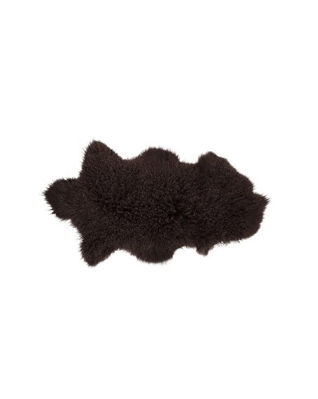 Piel de cordero Mongolian marrón