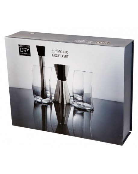 SET MOJITO DRY COLLECTION INOX VIDRIO