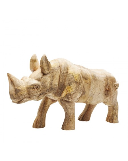 FIGURA DECORATIVO RHINO WOOD