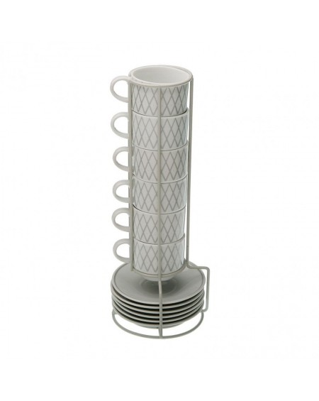 SET 6 TAZAS CAFE C/STAND
