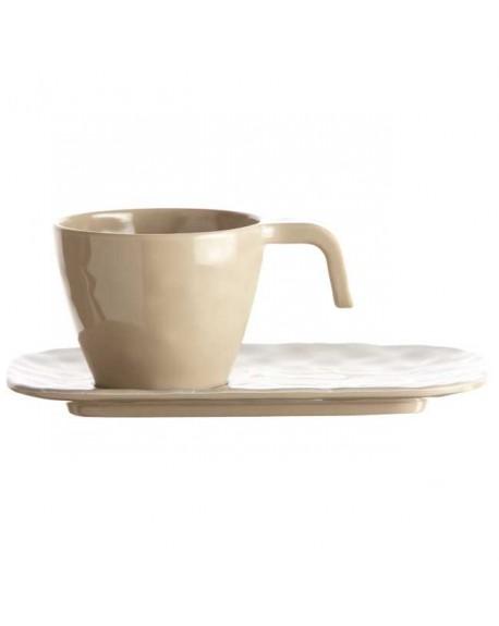 TAZA CAFE C/PLATO SAND HARMONY