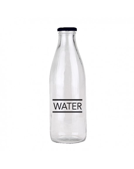 BOTELLA TAPON NEGRAO 1L WATER