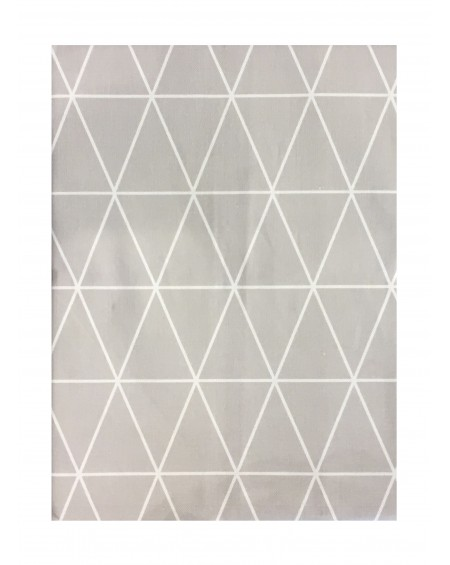 MANTEL TRIANGLE GRIS 100X140