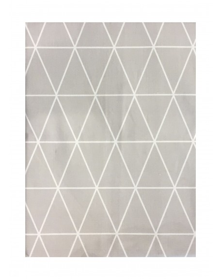 MANTEL 140X140 TRIANGLE GRIS
