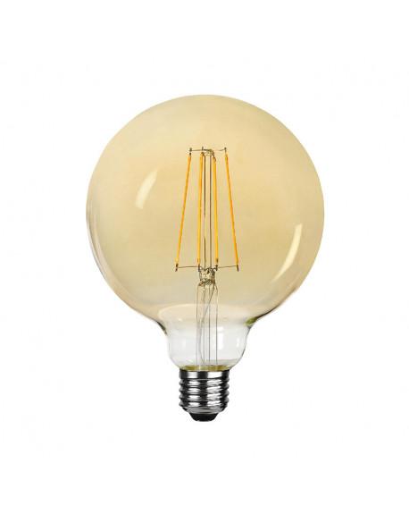 BOMBILLA LED AMBAR LISA D12X17CM E27 4W