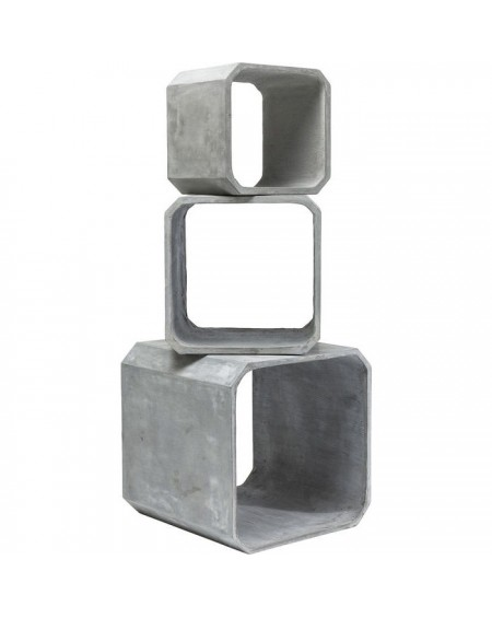SET 3 CUBOS SQUARE CONCRETE
