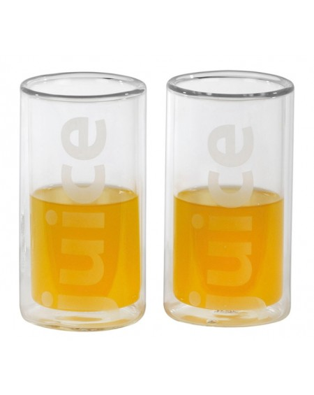 SET 2 VASOS CRISTAL DOBLE JUICE