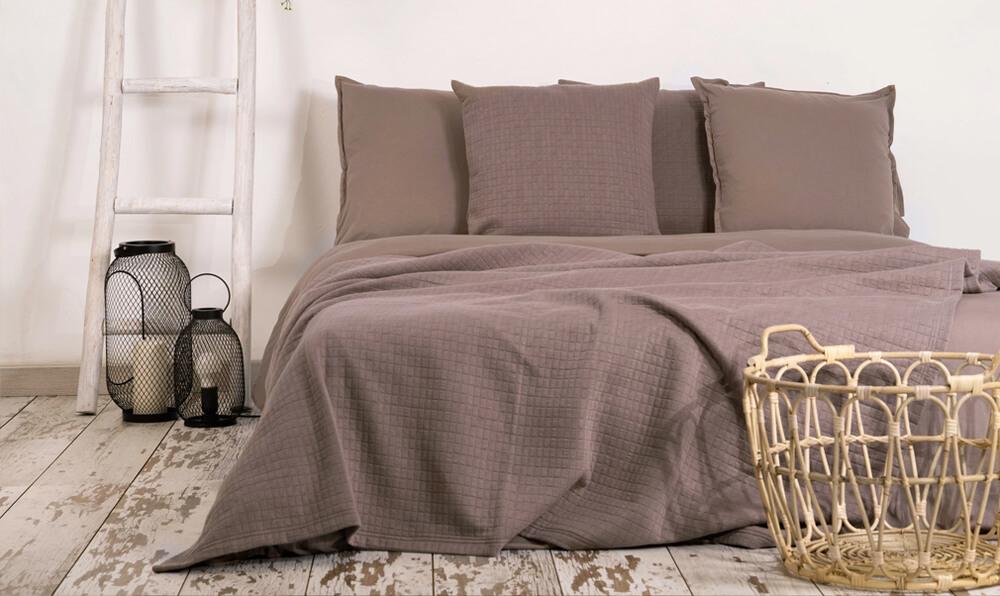 Textiles y juegos de sábanas de algodón que no es necesario planchar